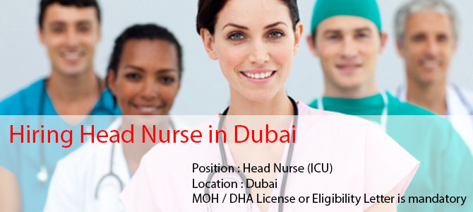Hiring Head Nurse in Dubai.