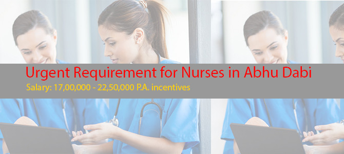 Urgent Requirement for Nurses in Abhu Dabi