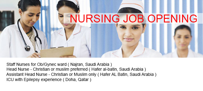 NURSING JOB OPENING