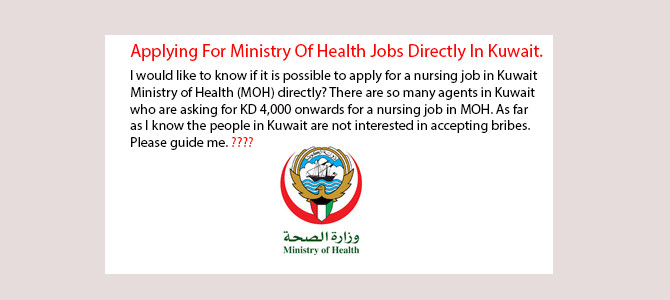 How can apply for Ministry Of Health Jobs Directly In Kuwait.