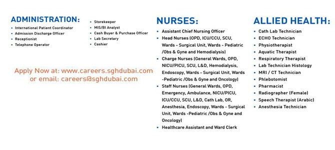 Nursing job vacancy in Dubai