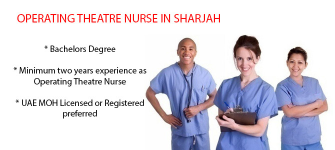 OPERATING THEATRE NURSE IN SHARJAH