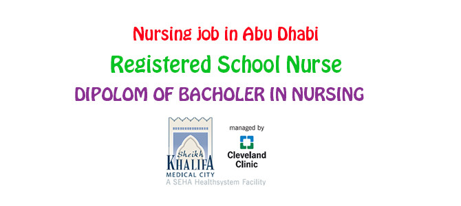 Registered School Nurse in  Abu Dhabi