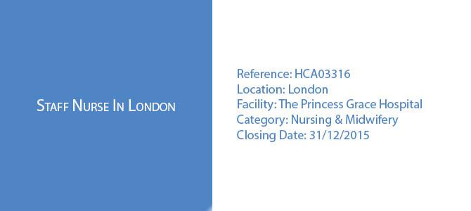 Staff Nurse In London