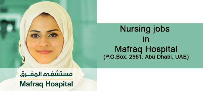 Nursing jobs  in Mafraq Hospital (P.O.Box. 2951, Abu Dhabi, UAE)