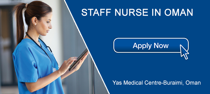 Female Staff Nurse in OMAN