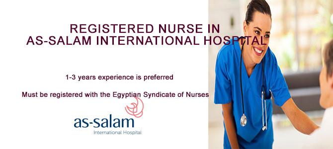 Registered Nurse in As-Salam international hospital-Egypt