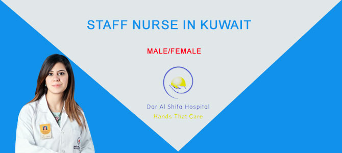 Staff nurse in kuwait