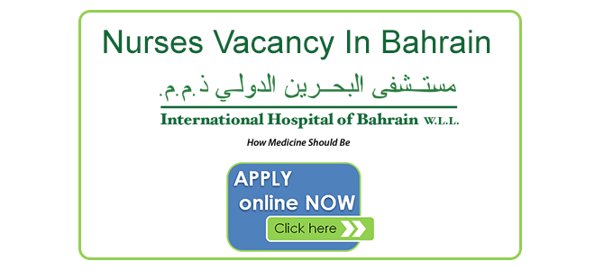 Nurses Vacancy In Bahrain