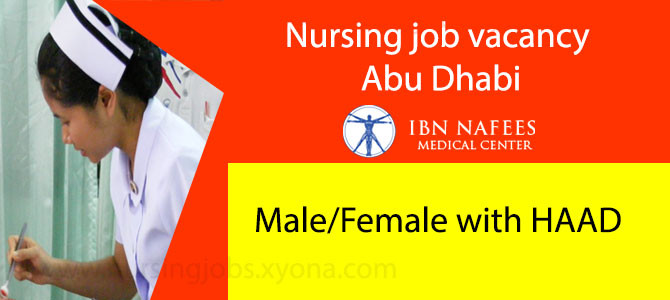 Nursing job vacancy  Abu Dhabi