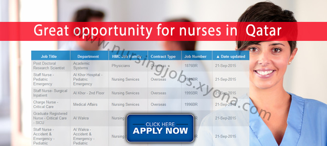 Great opportunity for nurses in  Qatar