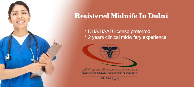 Registered Midwife (Job Code: SGHDN1) In Dubai