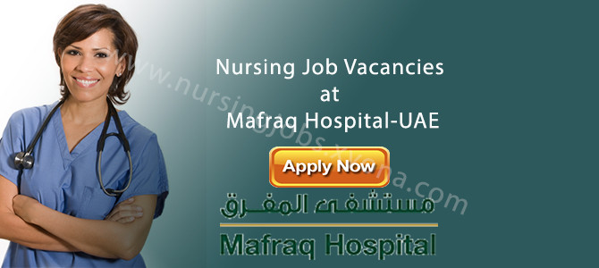 Nursing Job Vacancies at Mafraq Hospital-UAE