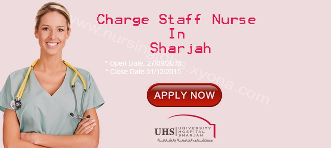 Charge Staff Nurse In University Hospital Sharjah - Nursing Jobs