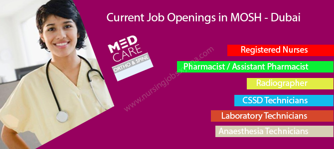 Current Job Openings in MOSH – Dubai