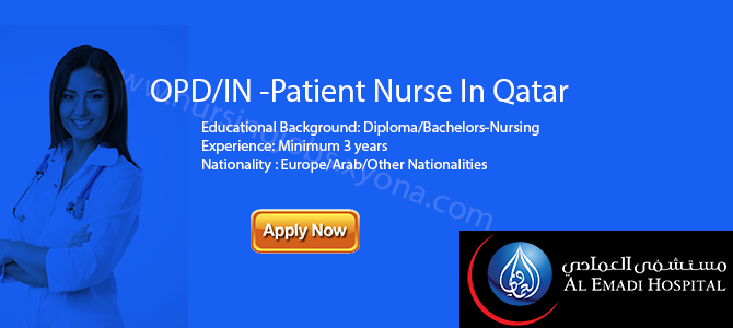 OPD/IN -Patient Nurse In Qatar