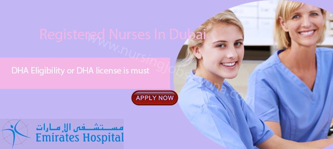 Registered Nurses In Emirates Hospital, Dubai Jumeirah