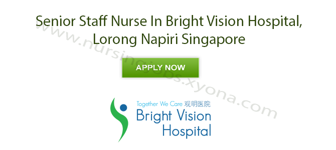Senior Staff Nurse In Bright Vision Hospital, Lorong Napiri Singapore