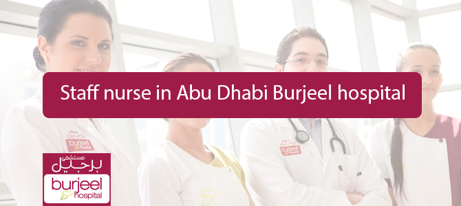 Staff nurse in Abu Dhabi Burjeel hospital