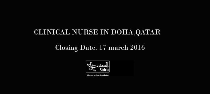 CLINICAL NURSE  IN DOHA, QATAR