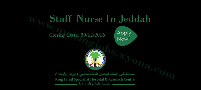 Staff Nurse In King Faisal Specialist Hospital & Research Centre, Jeddah