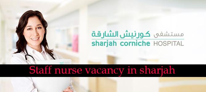 Staff nurse vacancy in sharjah