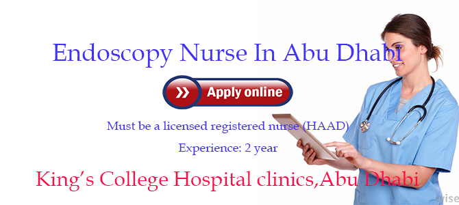 Endoscopy Nurse In King's college hospital clinics Abu Dhabi