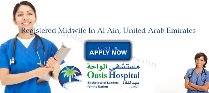 Registered Midwife In Oasis Hospital Al Ain