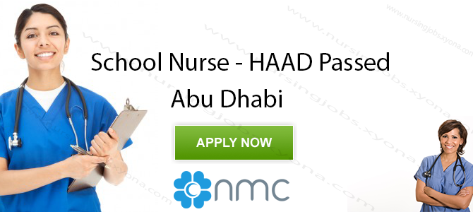 School Nurse(HAAD Passed)  In NMC Day Surgery, MBZ, Abu Dhabi