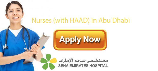 Nurses (with HAAD) In Seha Emirates Hospital,  Abu Dhabi