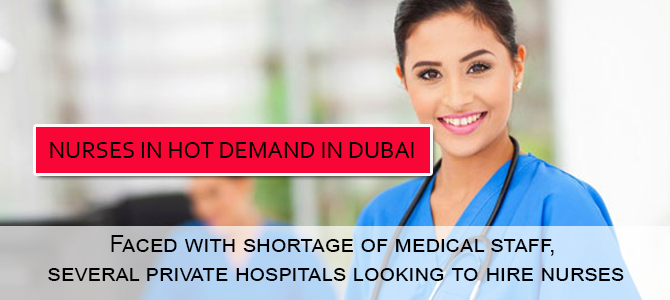 Nurses in hot demand in Dubai
