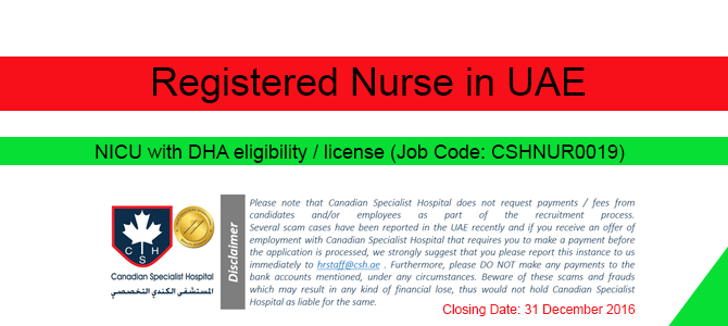 Registered Nurse in UAE