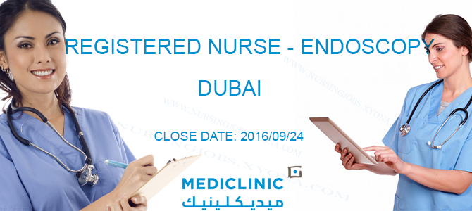 Registered Nurse – Endoscopy In Dubai Close Date: 2016/09/24