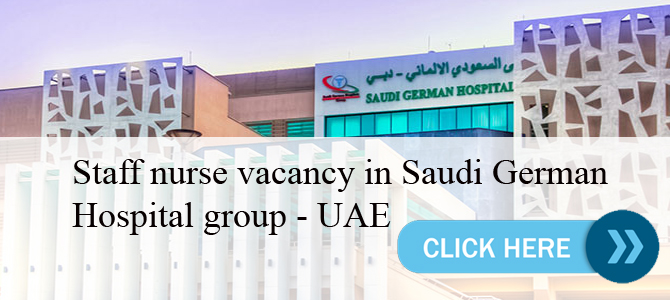staff nurse vacancy in Saudi German Hospital group – UAE